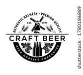 craft beer logo design concept. ... | Shutterstock .eps vector #1780186889