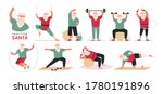 santa claus doing aerobic and... | Shutterstock .eps vector #1780191896