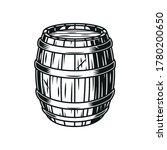 Vintage Beer Wooden Barrel In...