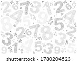 white seamless background with... | Shutterstock . vector #1780204523