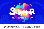 summer party posters design... | Shutterstock .eps vector #1780205486