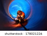pipe welding on the pipeline... | Shutterstock . vector #178021226