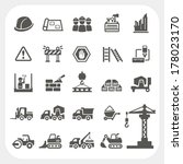 construction icons set | Shutterstock .eps vector #178023170