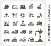 construction icons set | Shutterstock .eps vector #178023170