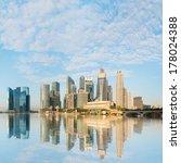 modern city skyline with... | Shutterstock . vector #178024388
