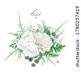 floral bouquet  ivory white...   Shutterstock .eps vector #1780257419