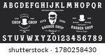 barbershop typeface   retro...   Shutterstock .eps vector #1780258430