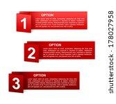 vector red paper option labels...   Shutterstock .eps vector #178027958