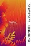 beautiful flowers background in ... | Shutterstock .eps vector #1780313690