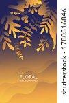 abstract gradient vector leaves ... | Shutterstock .eps vector #1780316846