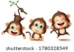 Monkeys Animal Characters...