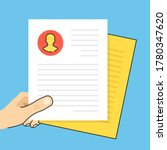 hand holding documents.... | Shutterstock .eps vector #1780347620