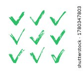 check marks. hand drawn... | Shutterstock .eps vector #1780347803