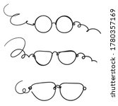 hand drawn doodle glasses icon... | Shutterstock .eps vector #1780357169