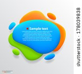 color blot banner. vector | Shutterstock .eps vector #178039838