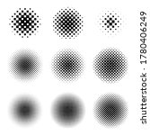 circle halftone set with square ... | Shutterstock .eps vector #1780406249