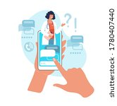 online consultation with a... | Shutterstock .eps vector #1780407440