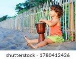 Little Happy Baby Girl Play...