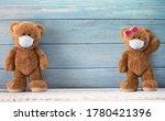 Cute Couple Teddy Bears Smiling ...
