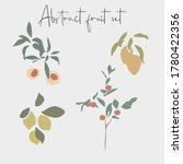 set of abstract fruits  peach ... | Shutterstock .eps vector #1780422356