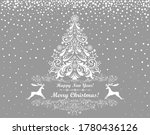 merry christmas and happy new... | Shutterstock . vector #1780436126