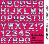 an alphabet sit of shiny chrome ... | Shutterstock . vector #178043864