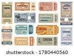 cinema or movie theater ticket... | Shutterstock .eps vector #1780440560