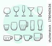 kitchen utensils. glasses and...   Shutterstock .eps vector #1780460636