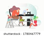 hard work concept vector flat...   Shutterstock .eps vector #1780467779