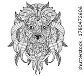 lion face. zentangle stylized... | Shutterstock .eps vector #1780472606