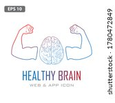 human brain with strong bicep...   Shutterstock .eps vector #1780472849