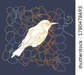 hand drawn vector bird with... | Shutterstock .eps vector #1780478693