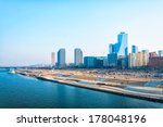 the skyline of the yeouido... | Shutterstock . vector #178048196
