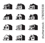 various types of houses  ... | Shutterstock .eps vector #178050338