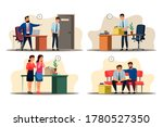 unemployment concept. office... | Shutterstock .eps vector #1780527350