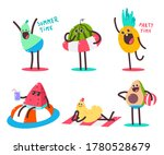 cute summer fruits characters...   Shutterstock .eps vector #1780528679