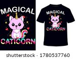 unicorn t shirt t shirt design... | Shutterstock .eps vector #1780537760