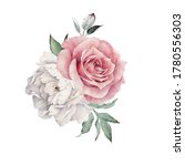 bouquet of peonies and roses ... | Shutterstock . vector #1780556303