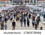 Sopot  July 14  People Walking...