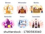 people preparing drink set.... | Shutterstock .eps vector #1780583060