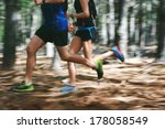 couple running fast through the ... | Shutterstock . vector #178058549