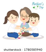 kids giving thai graland for...   Shutterstock .eps vector #1780585940