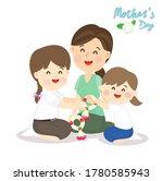 kids giving thai graland for...   Shutterstock .eps vector #1780585943