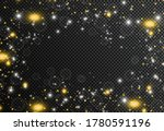 golden particles. glowing...   Shutterstock .eps vector #1780591196