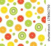 citrus kiwi fruit seamless... | Shutterstock .eps vector #178061750