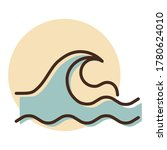 sea waves vector icon. nature...
