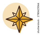 wind rose vector icon....