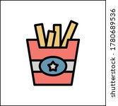 restaurant french fries icon....