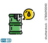 filled line style icon of oil...
