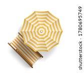 sun lounger under an umbrella... | Shutterstock .eps vector #1780695749